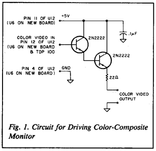 Circuit for Driving Color-Composite Monitor