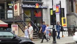 Visite du St-Hubert Express de Montréal (Quartier Latin)